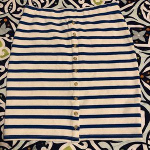Free People Cotton Striped Skirt